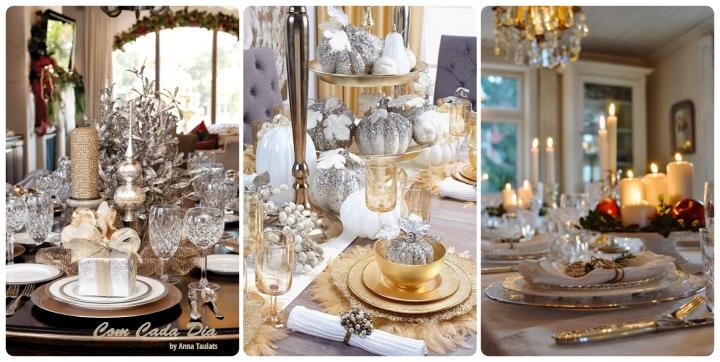 taula de nadal in gold-comcadadia